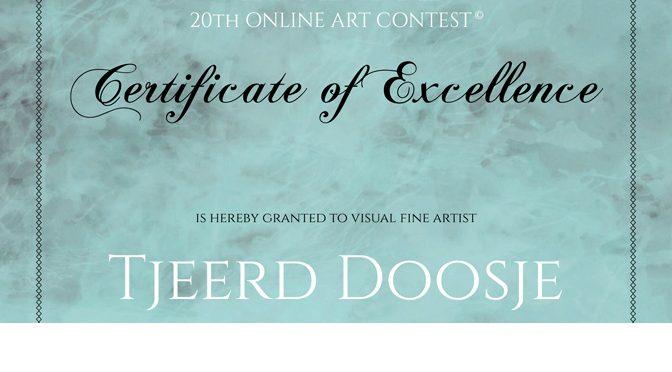 Certificate of Excellence ontvangen