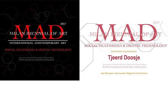 Certificaat deelname expositie Moda Arte Design ontvangen