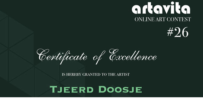 Certificate of Excellence van ArtaVita ontvangen