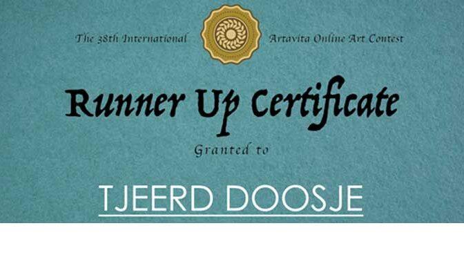 Inzending bij finalisten – Runner Up Certifcate van ArtaVita